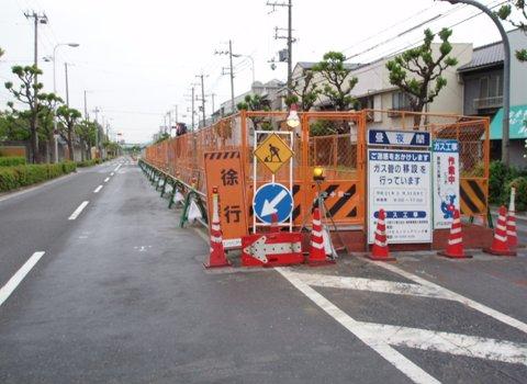 大規模現場の道路占用状況