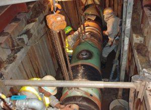 大口径管の接続(連絡工事)