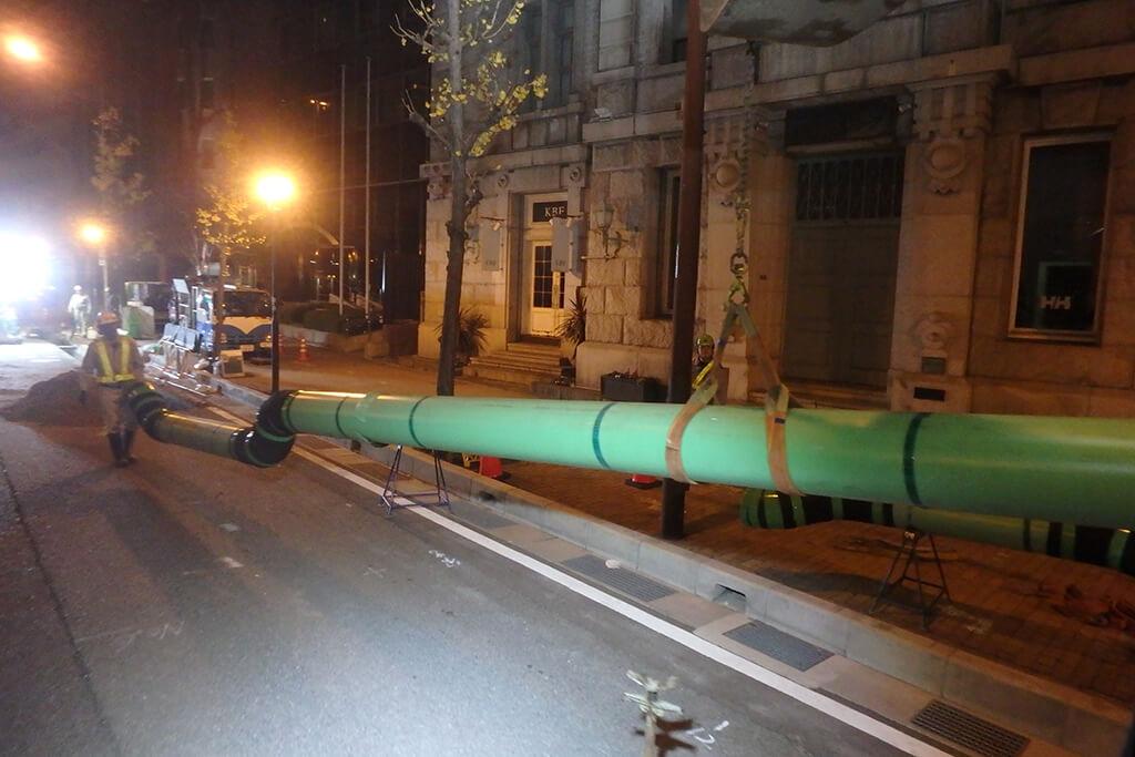 新ガス管移動